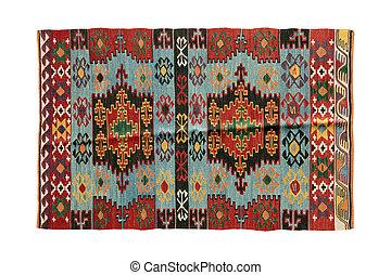 antigüedad, hechaa mano, alfombras