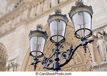 antigüedad, lamppost