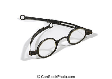 antigüedad, lentes, peluca