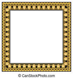 antigüedad, marco, oro