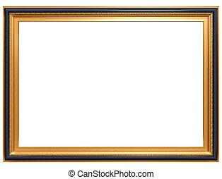 antigüedad, marco, rectangular