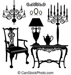 antigüedad, muebles