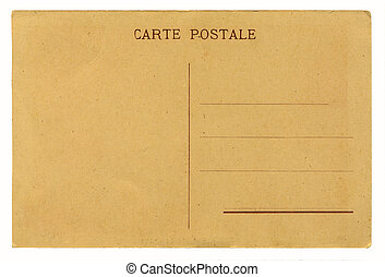 antigüedad, postal