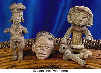 antigüedad,  pre, colombino, figuras
