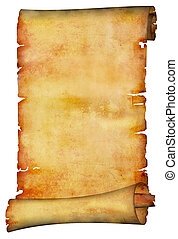 antigüedad, rollo papel