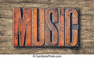 antigüedad, texto impreso, madera, tipo, imprimir bloquea, -, música