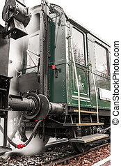 antigüedad, tren, exterior