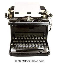 antigüedad, type-writer