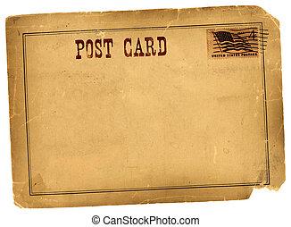 antigüedad, vendimia, postal, espacio sin expresión