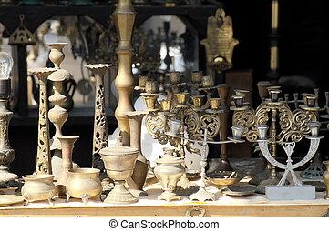 antigüedades, en, jerusalén, este, mercado