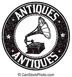 antigüedades, estampilla