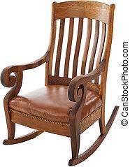 antigüidade, cadeira balanço