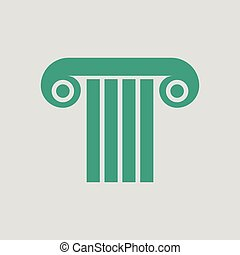 antigüidade, coluna, ícone