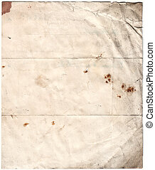 antigüidade, deteriorado, papel, (inc, cortando, path)