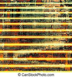 antigüidade, diferente, antigas, experiência., cor, amarela, textura, black;, (beige);, brown;, (orange), green;, patterns:, ou, vermelho