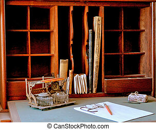 antigüidade, escrivaninha