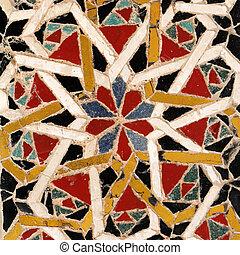 antigüidade, europa, itália, imagem, detalhe, paviment, amalfi, campania, catedral, mosaico