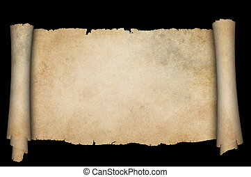 antigüidade, experiência., pretas, scroll, pergaminho