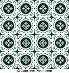 antigüidade, folha, imagem, pattern., espiral, elegante, fundo, redondo, caleidoscópio