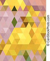 antigüidade, fundo, de, amarela, e, cor-de-rosa, triangulo