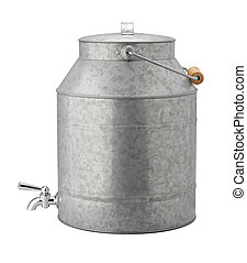 antigüidade, galvanizado, geladeira água