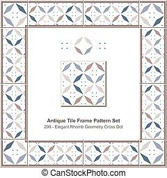antigüidade, jogo, elegante, geometria, padrão, quadro,...