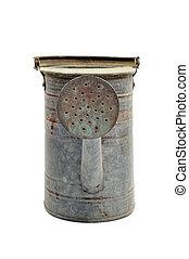 antigüidade, lata molhando