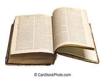 antigüidade, livro, isolado