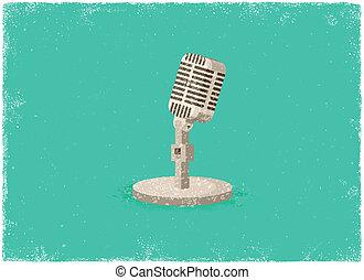 antigüidade, microfone