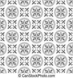 antigüidade, padrão, círculo, seamless