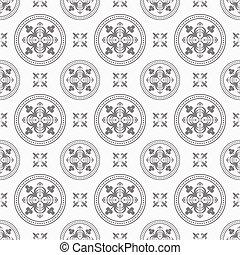 antigüidade, padrão, seamless, fundo