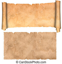 antigüidade, parchment.