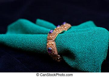 antigüidade, pulseira, ametista