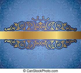 antigüidade, quadro, ouro, fundo