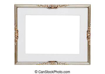 antigüidade, quadro, prata