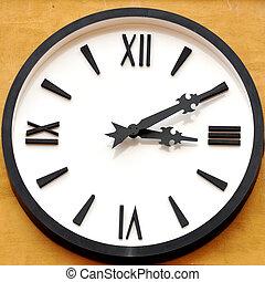 antigüidade, rosto relógio