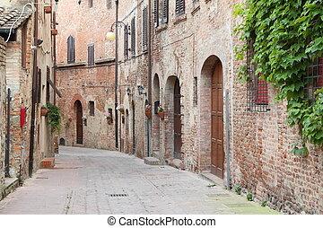 antigüidade, rua, itália