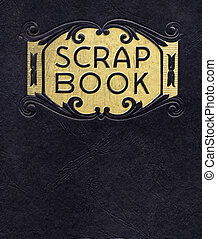 antigüidade, scrapbook, circa, 1890, (no, tempo, sob,...