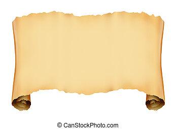 antigüidade, scroll, pergaminho