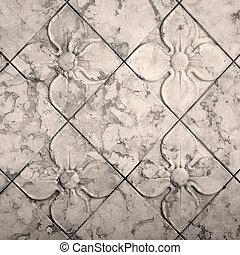 antigüidade, seamless, padrão, floral