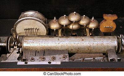antigüidade, som, fonógrafo, obsoleto, saída