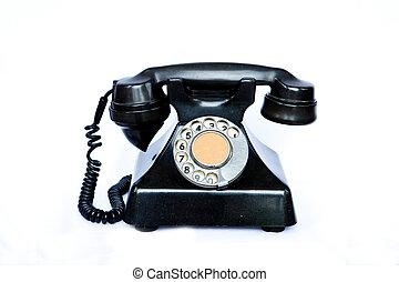 antigüidade, telephone.