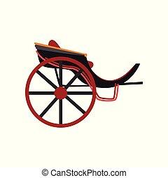 antigüidade, transporte, pessoas, ilustração, carruagem, vetorial, retro, fundo, veículo, branca