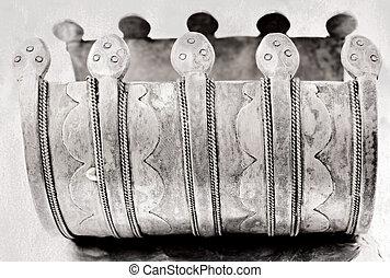 antigüidade velho, turco, sobre, anos, 100