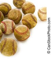 antigüidade, vindima, baseballs