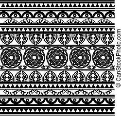 antiga, africano, padrão