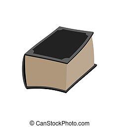antiga, antigas, isolated., volume, livro, fundo, grossas, ...