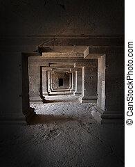 antiga, caverna, templo