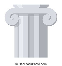 antiga, coluna, vetorial, ícone