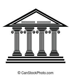 antiga, colunas